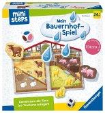 Ravensburger 04173 - ministeps® Mein Bauernhof-Spiel, Würfelspiel, Puzzle-Spiel, Lernspiel