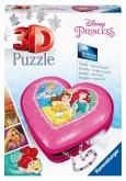 Ravensburger 11234 - Herzschatulle, Disney Princess, 3D Puzzle, 54 Teile