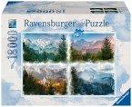 Ravensburger 16137 - Märchenschloss in 4 Jahreszeiten, Puzzle, 18000 Teile