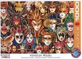 Eurographics 6000-5534 - Venetian Masks, Venezianische Masken, Puzzle, 1000 Teile