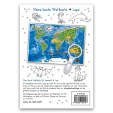 Meine bunte Weltkarte Lernposter DIN A3 laminiert + Lupe, 2 Teile