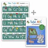 Mein Tafel-ABC Grundschrift mit Artikeln Lernposter DIN A4 + Schreiblernheft DIN A5, 2 Teile