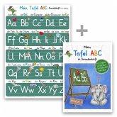 Mein Tafel-ABC Grundschrift mit Artikeln Lernposter DIN A3 + Schreiblernheft DIN A4, 2 Teile