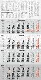 rido Viermonats Wandkalender 2021 quattroplan 2