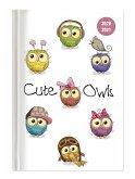 Collegetimer Cute Owls 2020/2021 - Eule - Schülerkalender A6