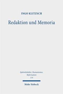 Redaktion und Memoria - Klitzsch, Ingo
