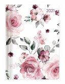 Ladytimer Roses 2021 - Rosen - Taschenkalender A6