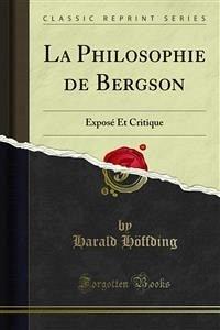 La Philosophie de Bergson (eBook, PDF)