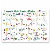 Mein buntes Kinder-ABC Druckschrift Lernposter DIN A4 laminiert