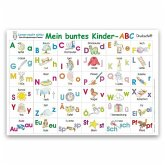 Mein buntes Kinder-ABC Druckschrift Lernposter DIN A3 laminiert