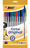 BIC Kugelschreiber Cristal Original 0.4mm farbig, 10er Set