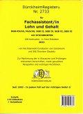 DürckheimRegister® - Fachassistent LOHN U GEHALT(ArbR-SGB) Nr. 2733 (2020)