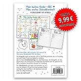 Mein buntes Kinder-ABC Druckschrift mit Artikeln Lernposter DIN A3 laminiert + Schreiblernheft DIN A4, 2 Teile