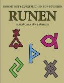 Malbücher für 2-Jährige (Runen): Dieses Buch enthält 40 farbige Seiten mit extra dicken Linien, mit denen die Frustration verringert und das Selbstver