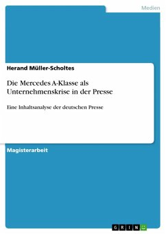 Die Mercedes A-Klasse als Unternehmenskrise in der Presse (eBook, PDF)
