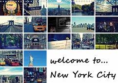 welcome to New York City / Geburtstagskalender (Wandkalender 2021 DIN A3 quer)