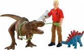 Schleich 41465 - Dinosaurs, Tyrannosaurus Rex Angriff, Spielset