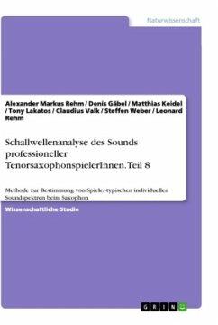 Schallwellenanalyse des Sounds professioneller TenorsaxophonspielerInnen. Teil 8
