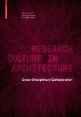Research Culture in Architecture (eBook, PDF)