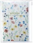 MARK'S 2020/2021 Taschenkalender A6 vertikal, Flower Pattern Ivory.
