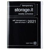 MARK'S 2020/2021 Taschenkalender A5 vertikal, Storage.it Black.