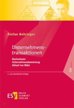 Unternehmenstransaktionen - Behringer, Stefan