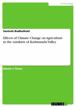 Effects of Climate Change on Agriculture in the outskirts of Kathmandu Valley (eBook, PDF)