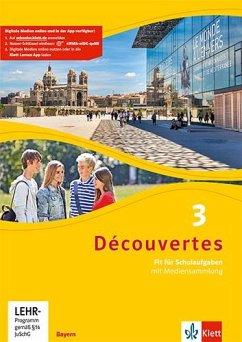 Découvertes 3. Ausgabe Bayern. Fit für Schulaufgaben. Arbeitsheft mit Lösungen und CD-ROM 3. Lernjahr