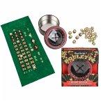 Taschen-Roulette-Set mit Rad, Spielfeld und Chips, Kunststoff