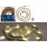 Lichterkette Seil, mit 20 warmweißen LED
