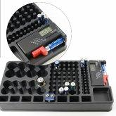 Batterie-Tester, Organizer zum Aufbewahren von bis zu 98 Batterien, verschiedene Formate