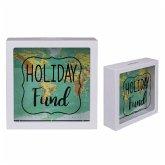 Spardose Holiday, Weltkarten-Design