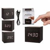 Digitaluhr cube mit Alarm, Datum und Temperaturanzeige, Kunststoff