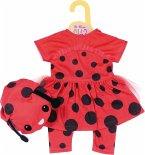 Zapf Creation® 870921 - Dolly Moda Süßes Marienkäfer Outfit, 43 cm, Puppenkleidung
