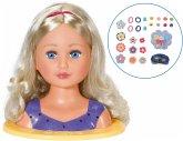 Zapf 828694 - BABY born Sister Styling Head, 2in1 Frisierpuppe und Schminkkopf