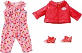 Zapf Creation® 828823 - BABY born City Scooter Outfit Puppenkleidung 43 cm, 4-teiliges Set