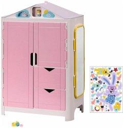 Zapf Creation® 827987 - BABY born Schrank mit Wetterente, Puppenkleiderschrank mit Funktion und Melodie