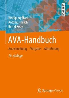 AVA-Handbuch (eBook, PDF) - Rösel, Wolfgang; Busch, Antonius; Rode, Bernd