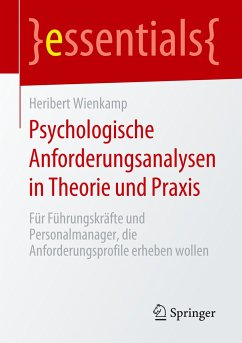 Psychologische Anforderungsanalysen in Theorie und Praxis - Wienkamp, Heribert