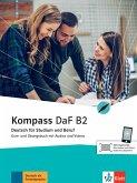 Kompass DaF B2. Kurs- und Übungsbuch mit Audios und Videos