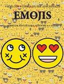 Libro de pintar para niños de 4-5 años. (Emojis): Este libro tiene 40 páginas para colorear sin estrés, para reducir la frustración y mejorar la confi