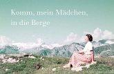 Komm, mein Mädchen, in die Berge (dt./engl.)