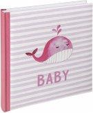 Walther Sam rosa 28x30,5 50 weiße Seiten Babyalbum UK183R