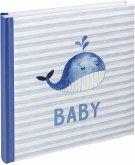 Walther Sam blau 28x30,5 50 weiße Seiten Babyalbum UK183L