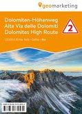 3D-Wanderkarte Dolomiten-Höhenweg / Alta Via delle Dolomiti / Dolomites High Route