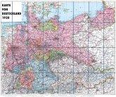Karte von DEUTSCHLAND - 1920 [gerollt]