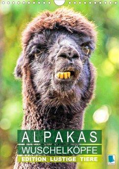 Alpakas: Wuschelköpfe - Edition lustige Tiere (Wandkalender 2021 DIN A4 hoch) - Calvendo, K. A.