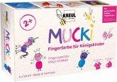 MUCKI Fingerfarbe für Königskinder 6er Set 50 ml