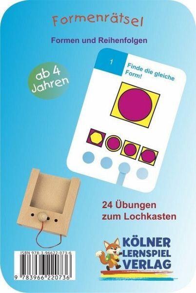 Kinderspiel Kölner Lernspielverlag|Der Lochkasten |ab 3 Jahren
