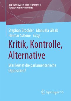 Kritik, Kontrolle, Alternative